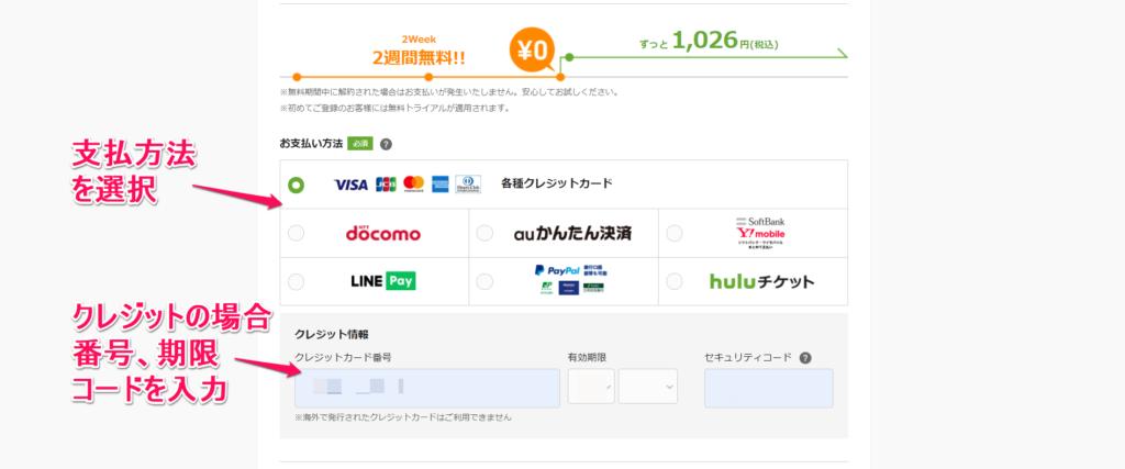 Hulu登録手順PC③